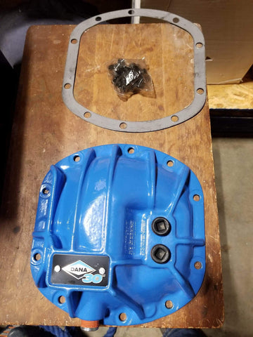 Dana 30 / Dana Super 30 Low and High Pinion Nodular Iron Differential Cover With Hardware and Gasket Blue