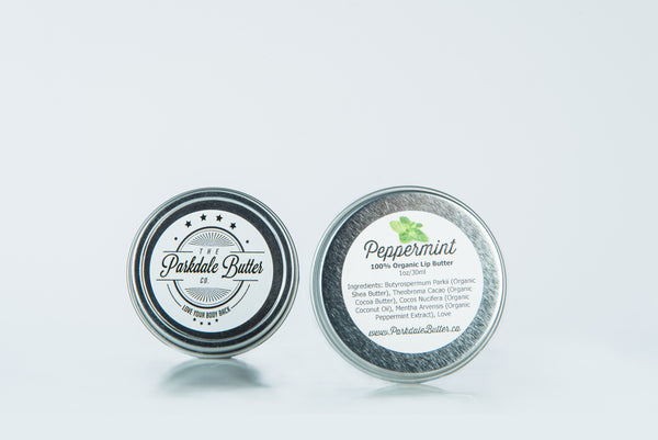 100% Organic Peppermint Lip Butter - Parkdale Butter