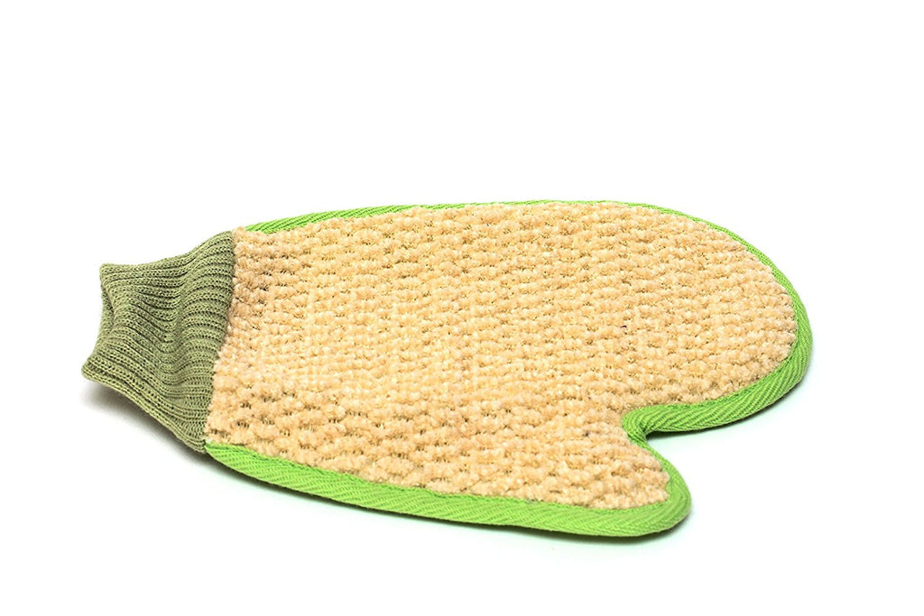 Loofah Back Scrubber, Sponge, Pad & Glove Set - 100% Natural Exfoliant For Smooth Skin - Perfect As A Gift