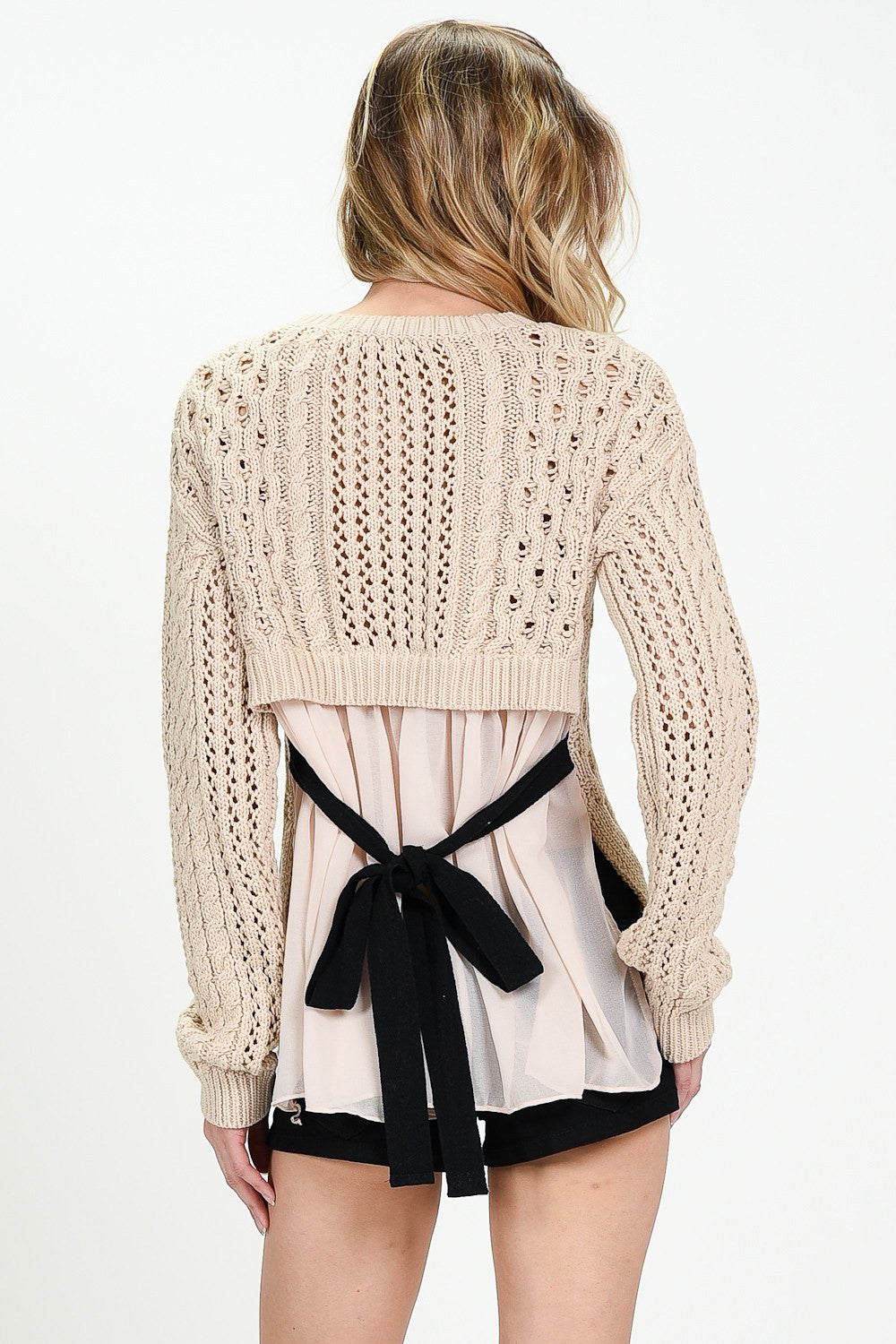 Long Sleeved Back Detailed Sweater
