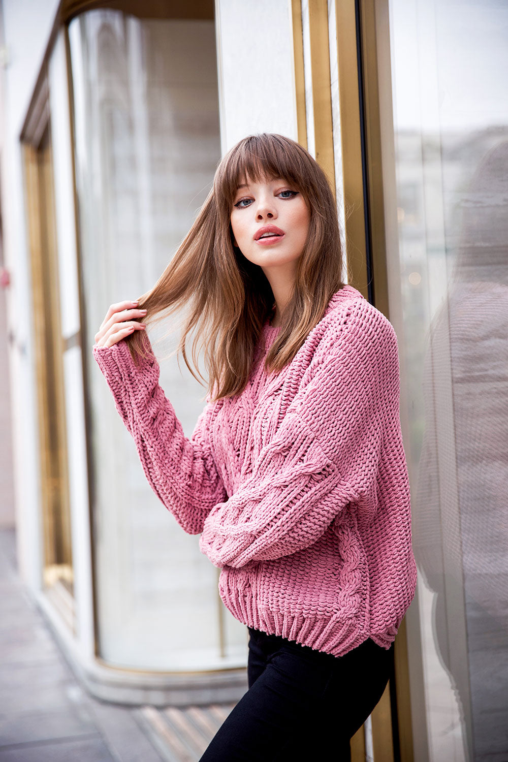 Cozy Cable Front Sweater