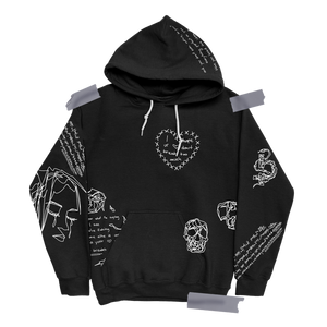 1 Sided Love All Over Print Hoodie