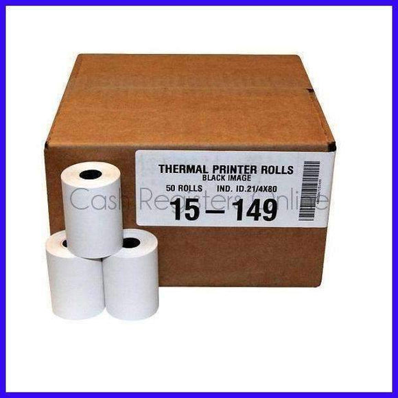 2 1/4'' by 60' Thermal Credit Card Paper Rolls - Cash Registers Online