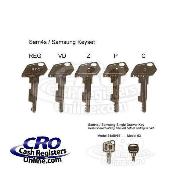 SAM4s and Samsung Cash Register Key Set - Cash Registers Online