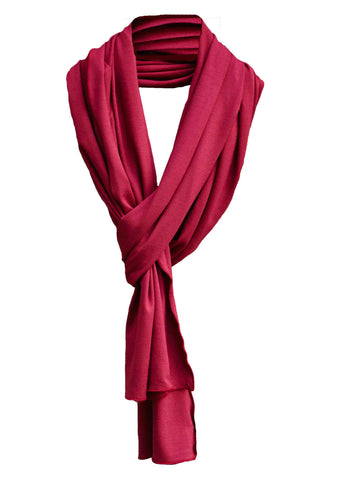 Bella Jersey Scarf - Dragon Red