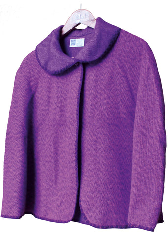 Lauren Plain Luxury Cape - Plum Purple