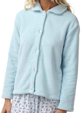 Mavis Fleece Indoor Velcro Jacket - Mint
