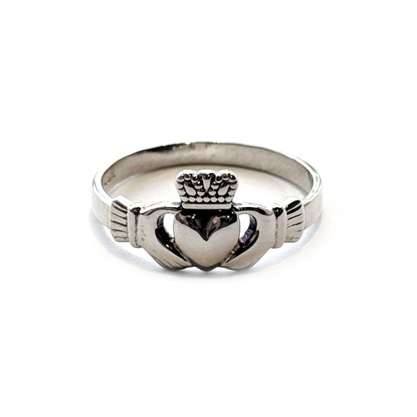 Women's Silver Claddagh Ring