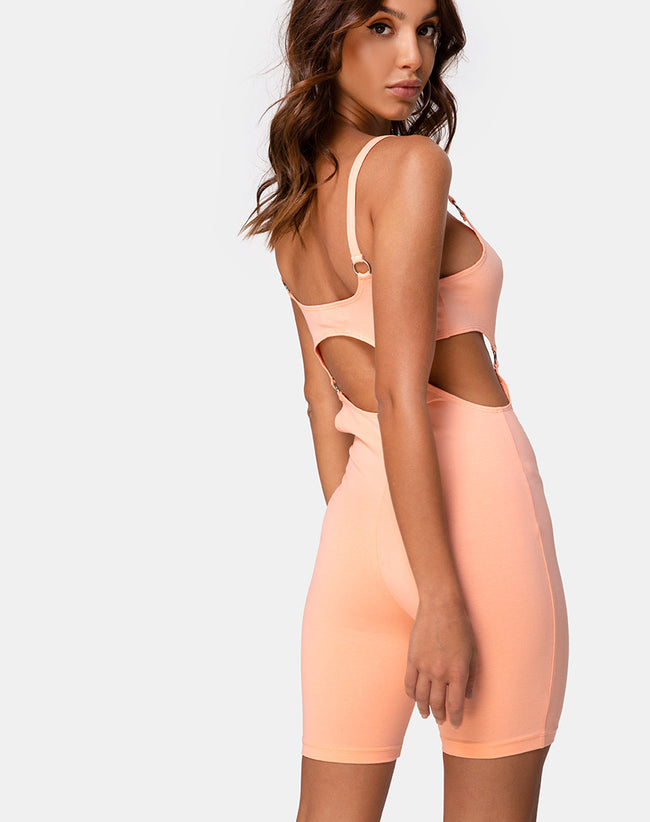 Jaso Unitard in Coral by Motel