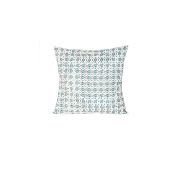 Small Linen All-Over Accent Pillow