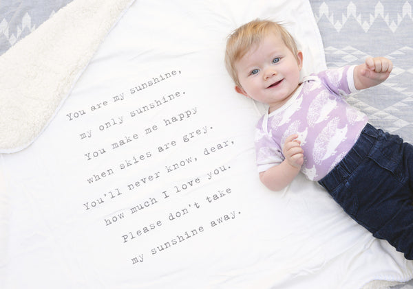 Plush Quote Baby Blanket