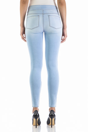 CLOUD HIGH RISE PULL ON LEGGING - BLEU-BLEU