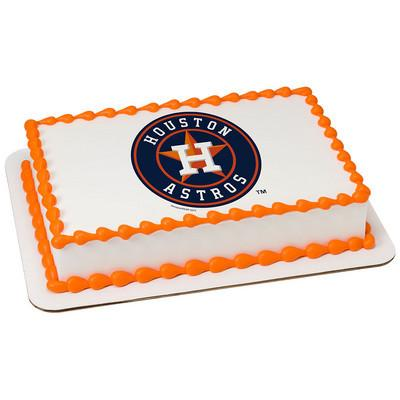 Houston Astros MLB Edible Cake, Cupcake & Cookie Topper - Trish Gayle