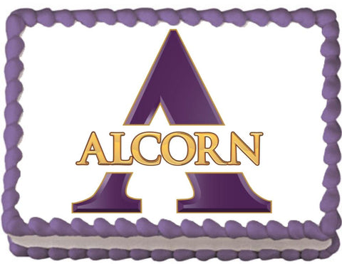 Alcorn State Braves Edible Cake, Cupcake & Cookie Topper - Trish Gayle