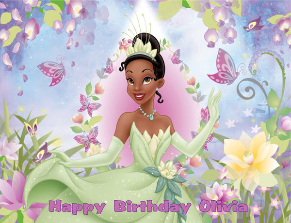 Princess Tiana Edible Cake, Cupcake & Cookie Topper - Trish Gayle