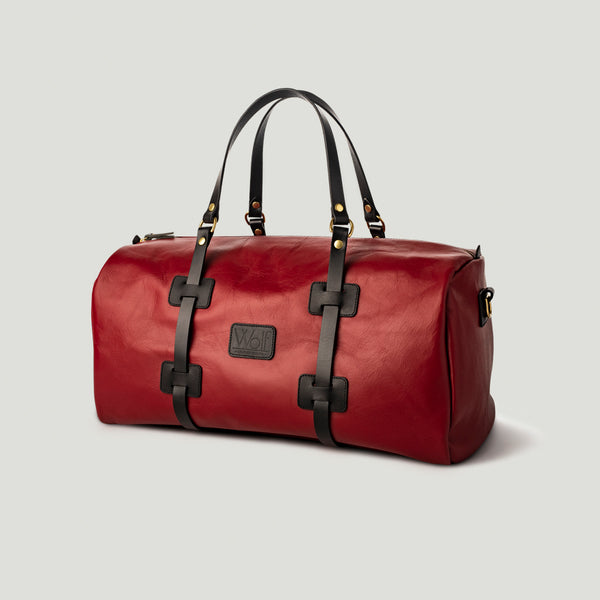 Wolf Leather Weekender Red - Wolf Leather Goods