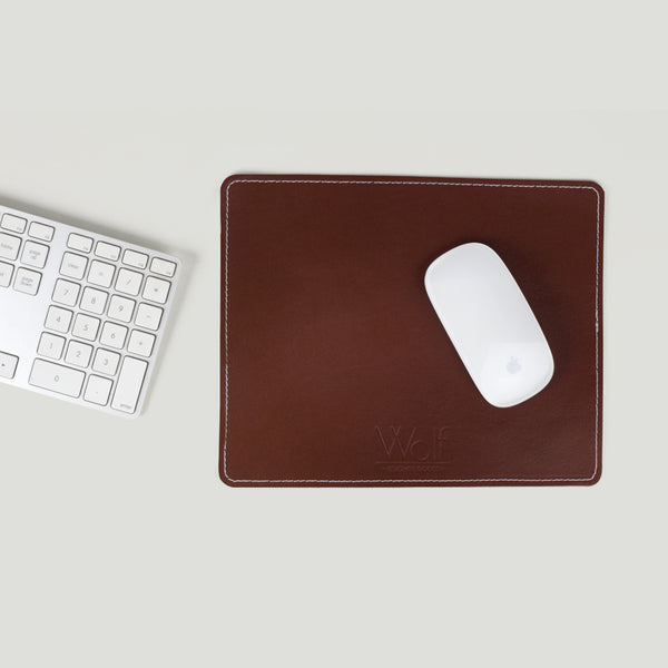 Wolf Leather Mouse pad Brown - Wolf Leather Goods