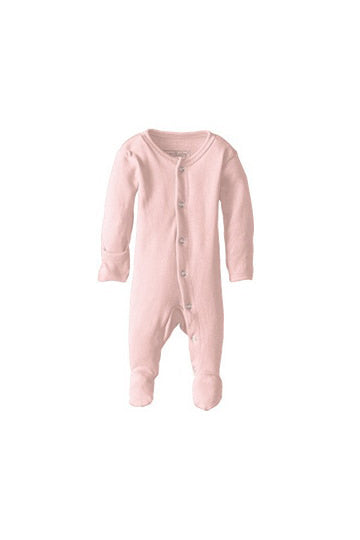 Ashton Blush Organic Footed Overall by L'ovedbaby