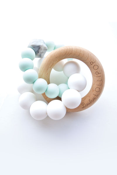 Alexander Silicone and Trinity Wood Teether Mint