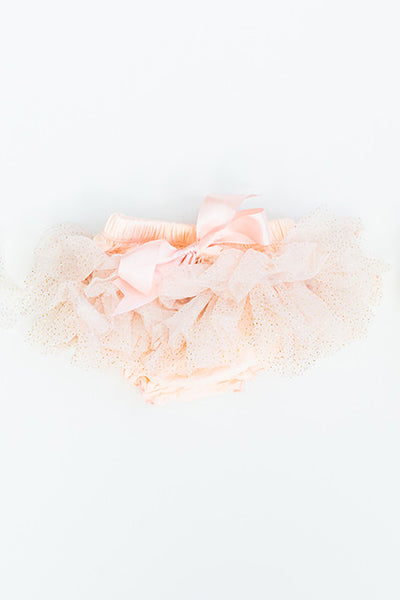 Savannah Baby Tutu / Bloomer Peach Sparkle