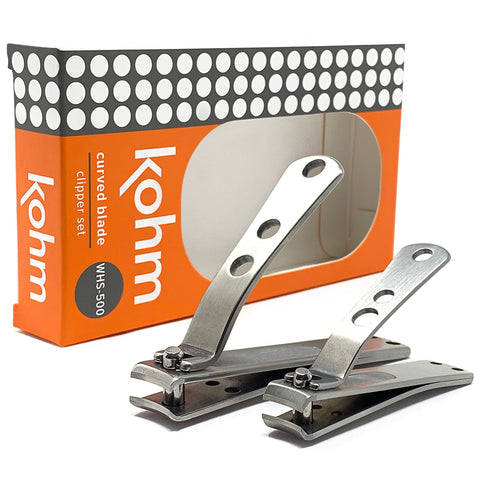 Kohm WHS-500 Nail Clipper Set: CP-140L Toenail Clipper + Jr. Fingernail Clipper