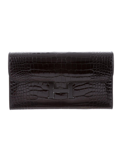 Hermes | So Black Alligator Constance Wallet - The-Collectory