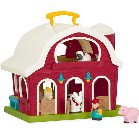 Battat Big Red Barn with Farmer and 4 Animals 1