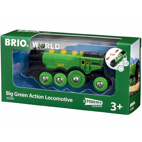 Brio Big Green Action Locomotive Battery Powered