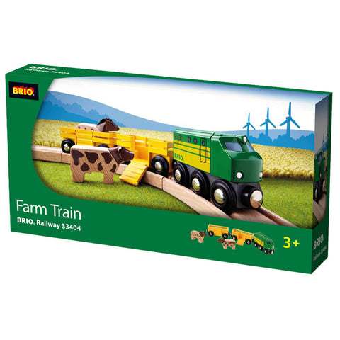 Brio Farm Train Wooden - K and K Creative Toys