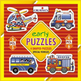 Creatives Puzzle Early Special Vehicles 4x 3-6pcs - K and K Creative Toys