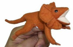 Animals of Australia Finger Puppet Frilled Neck Lizard - K and K Creative Toys