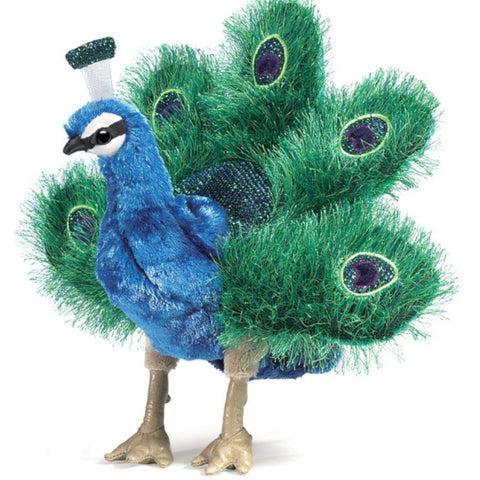Folkmanis Hand Puppet Peacock Small