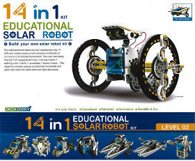 Green Energy Educational Solar Robot 14 in 1 - K and K Creative Toys