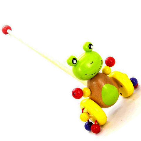 Kaper Kidz Push Along Frog Wooden