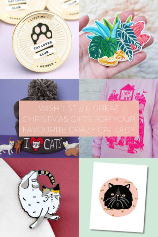 6 Great Christmas Gifts for your Favourite Crazy Cat Lady // Wish List