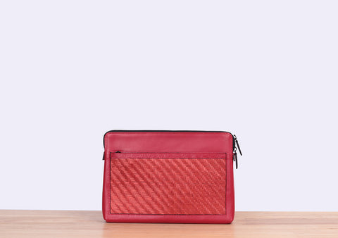 Bamboo Clutch (Red)