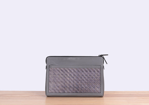 Bamboo Clutch (Grey)