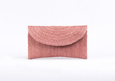 Bangkok Craft - Sisal Mini Clutch Bag (Rose)
