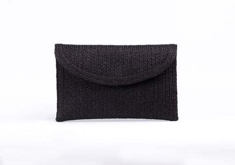 Bangkok Craft - Sisal Clutch Bag (Black)