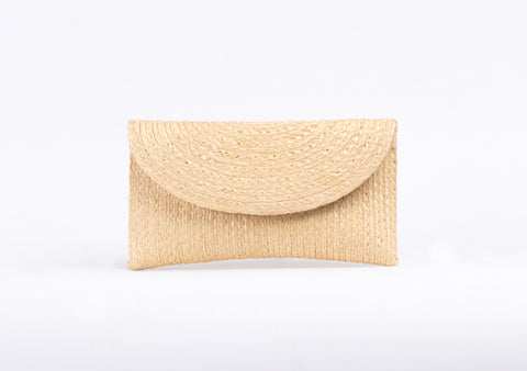 Bangkok Craft - Sisal Mini Clutch Bag (Beige)