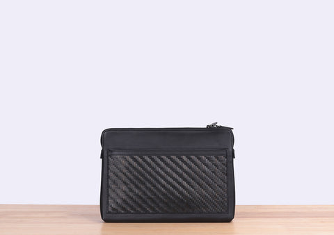 Bamboo Clutch (Black)