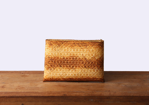 Komkrit - Brown Bamboo Clutch Bag