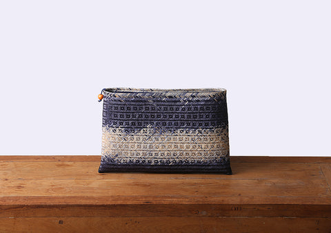 Komkrit - Blue Bamboo Clutch Bag