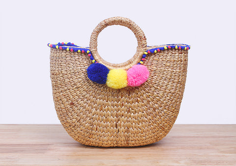 MoCraft - Straw beach handbag (small)