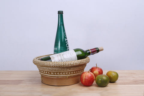Bamboo wicker container