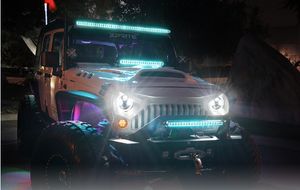 Aquatic Series LED Light Bar with Blue Backlight - Altitude Jeep