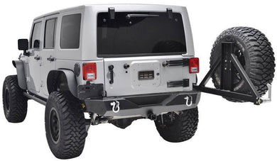 Rock Krawler w/ Tire Rack Rear Bumper for '07-'17 Jeep Wrangler - Altitude Jeep