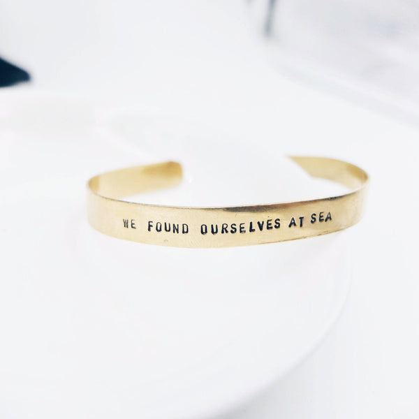 Custom Regular Brass Bangle (20 characters)