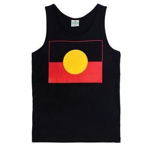 Aboriginal Flag Adult Singlet