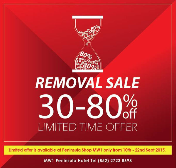 Hurry! Don't miss this Removal Sale!